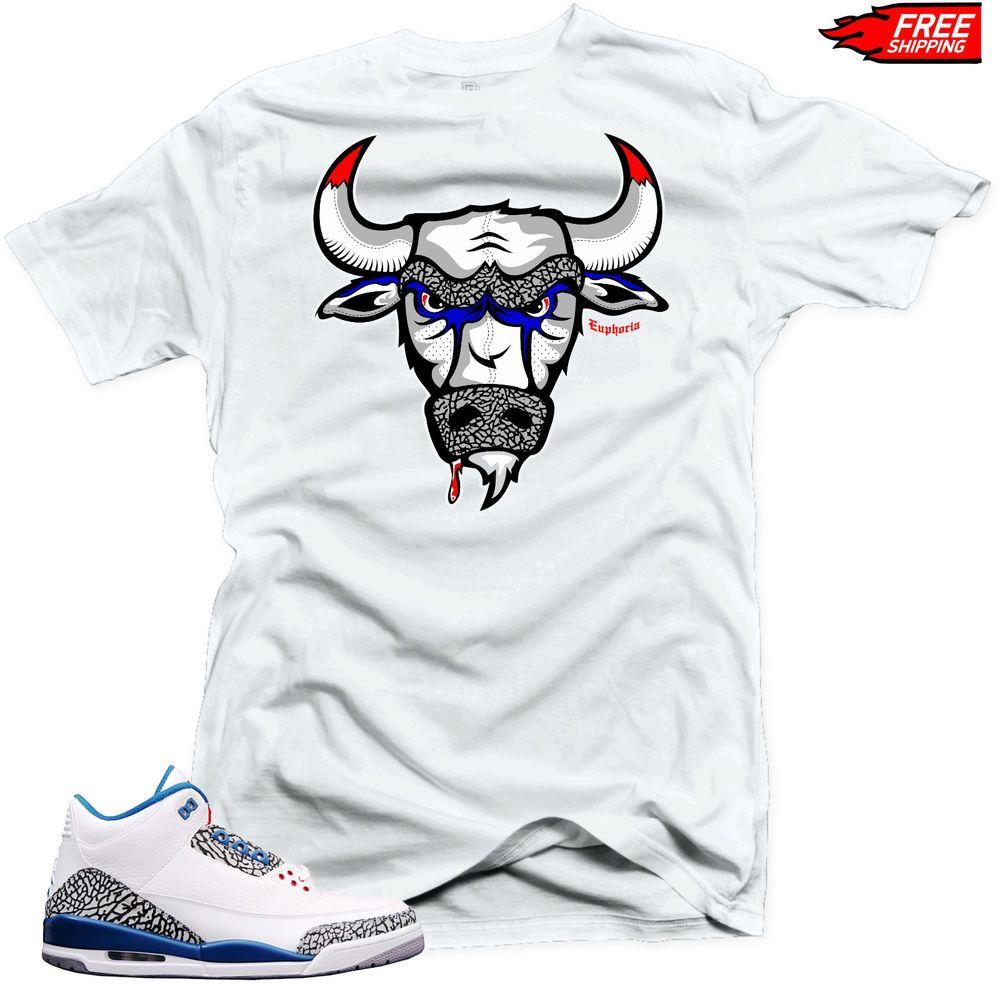 e46b31b98bb523 Shirt to Match Air Jordan Retro 3 True Blue Sneakers