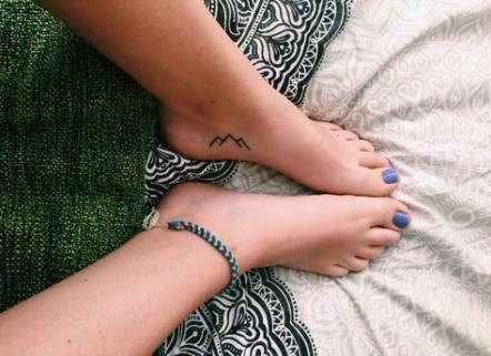 26 Ideas for tattoo mountain foot minimalist –  #