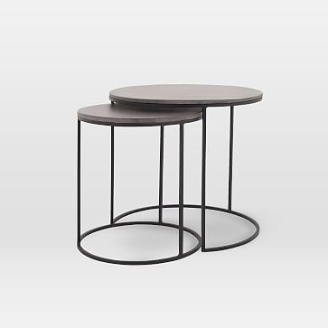 Lavastone Round Nesting Side Tables Set Of 2 In 2020 Concrete