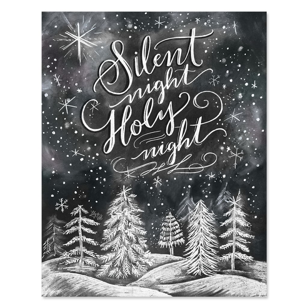 Silent Night, Holy Night - Print   Lily & Val