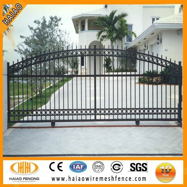 High quality wrought iron house main gate designs, iron pipe gate ...
