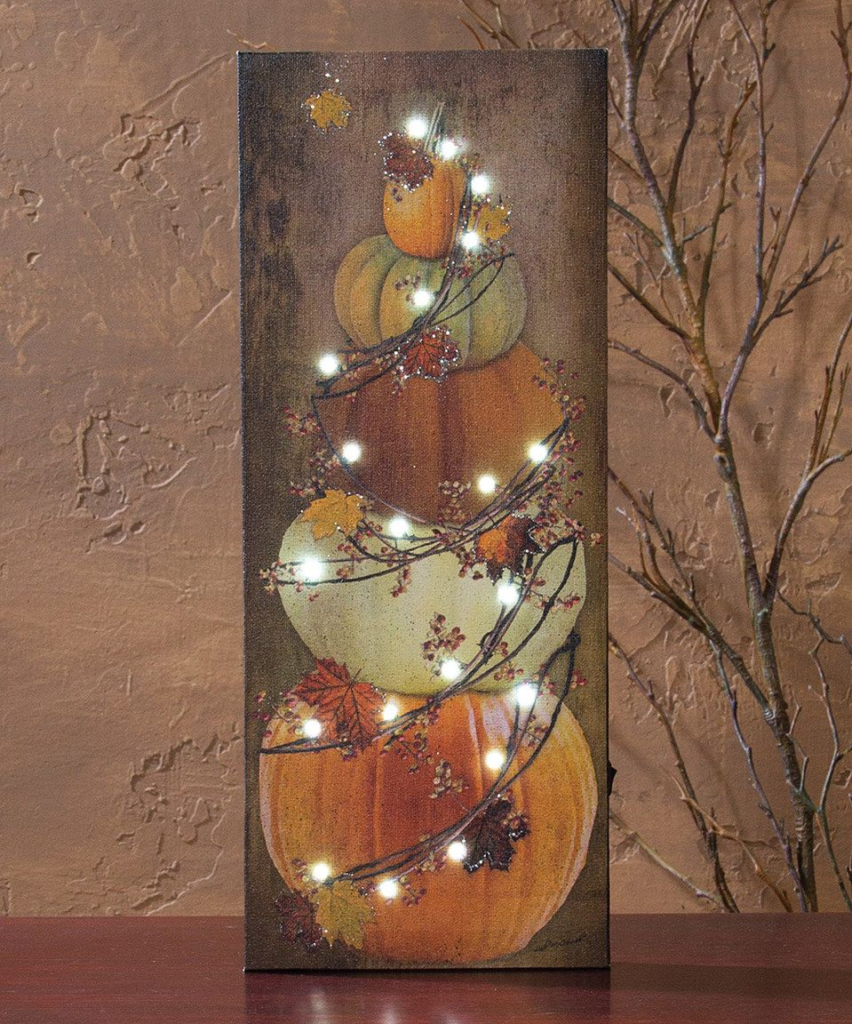 Wish i could find or buy bittersweet branches in our area don t - Another Great Find On Zulily Light Up Bittersweet Pumpkin Stack Wall Canvas By