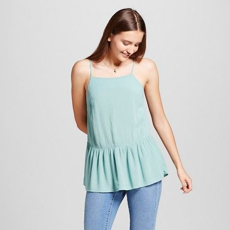 Women's Drapey Woven Tank Turquoise - Mossimo Supply Co.™ : Target