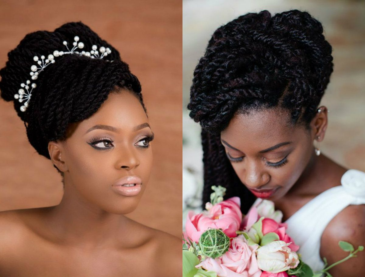 61 Braided Wedding Hairstyles: Spring Season Box Braids Wedding Hairstyles 2017