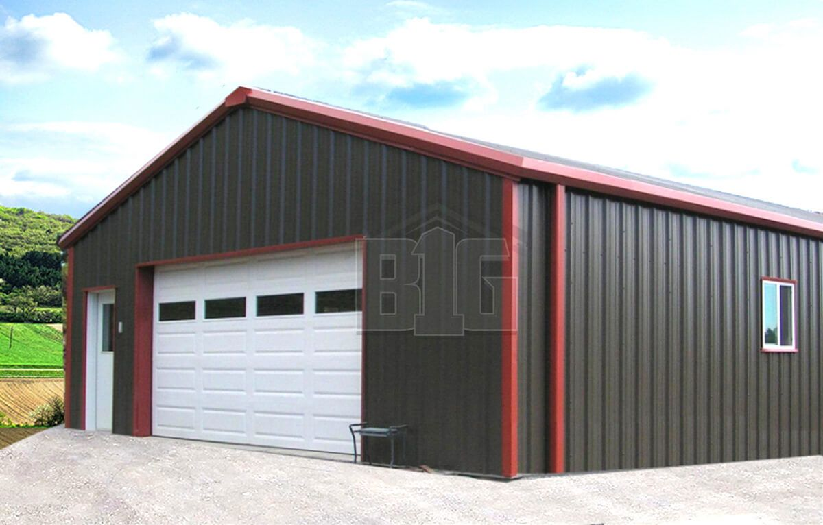 Maverick Metal Garage 24x30x10 Big Buildings Direct Garage Door Design Metal Garage Kits Garage Door Styles