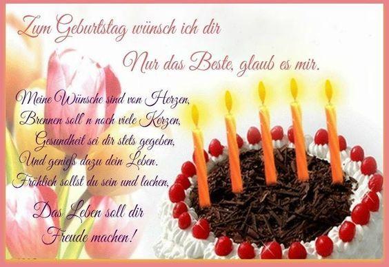 Zum Geburtstag Wunsch Ich Dir Nur Das Beste Glaub Es Mir Meine
