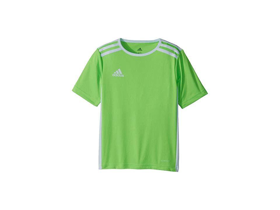 7d8b36e217c3 adidas Kids Entrada 18 Jersey (Little Kids/Big Kids) (Solar Green ...