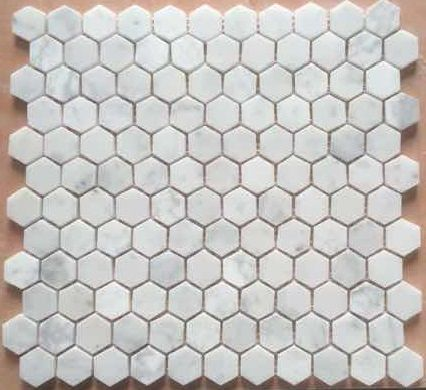 Hexagon Mosaic 25mm Bianco Carrara Honed | Osborne Ceramic Tile ...