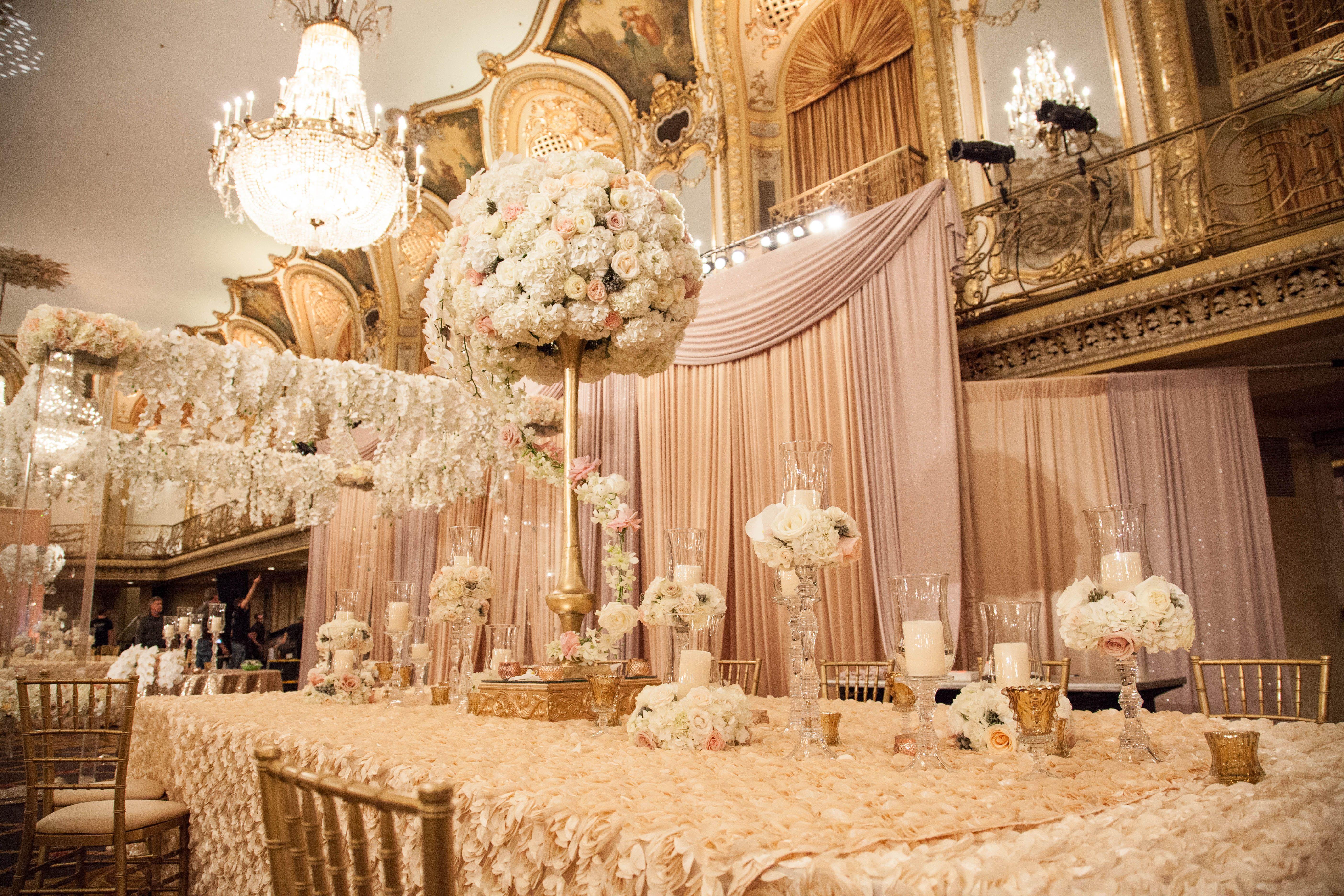 Glamorous Spring Wedding Posted By Yanni Design Studio Chicago Il Ballroom Wedding Design Studio Design Decor Design