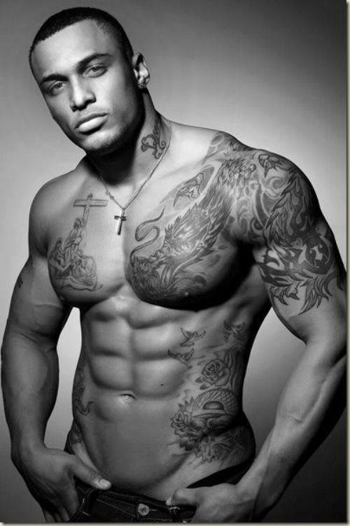 Half Sleeve Chest Ink Tattoos For Guys Sexy Men Hot Guys
