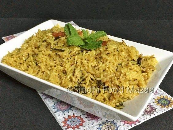 Sindhi food mazaa saawa chaanwara sindhi greens pulao sindhi recipes forumfinder Images