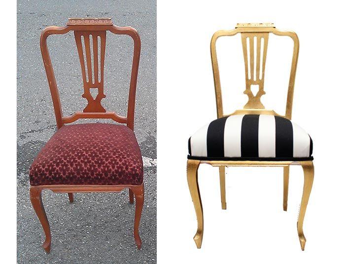 silla-recuperada-antes-y-después Armario xix Pinterest Vintage - muebles diy