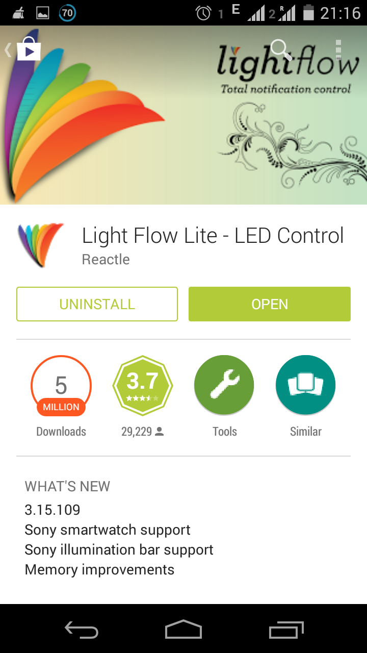 Light Flow Is App Which Lets You Control The Notifications On Your Phone.  It Enables