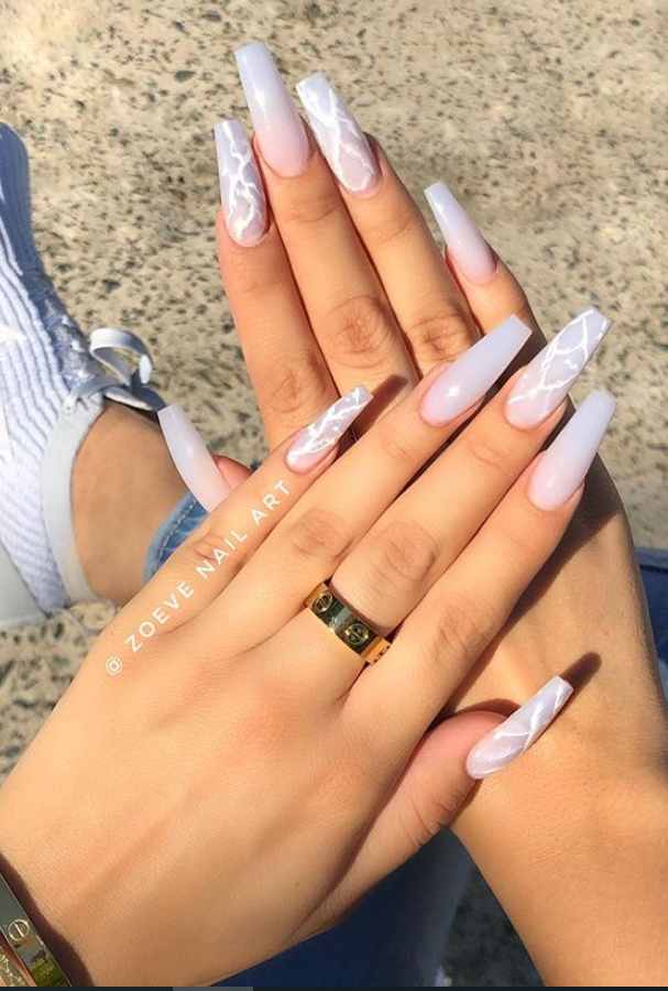 pink ombre coffin nails, Hottest and trendy ombre coffin