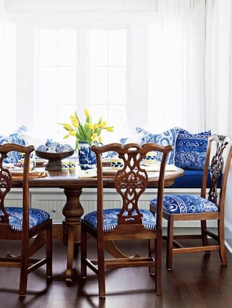 Blue White Chairs Have Similar Chairs Just Need The Fabric
