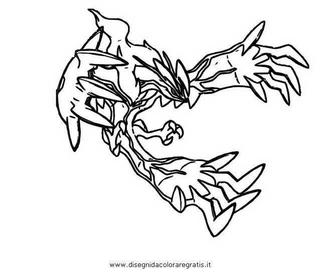 Primal Kyogre Coloring Page yveltal coloring pages 04 | coloring pages | pinterest | free