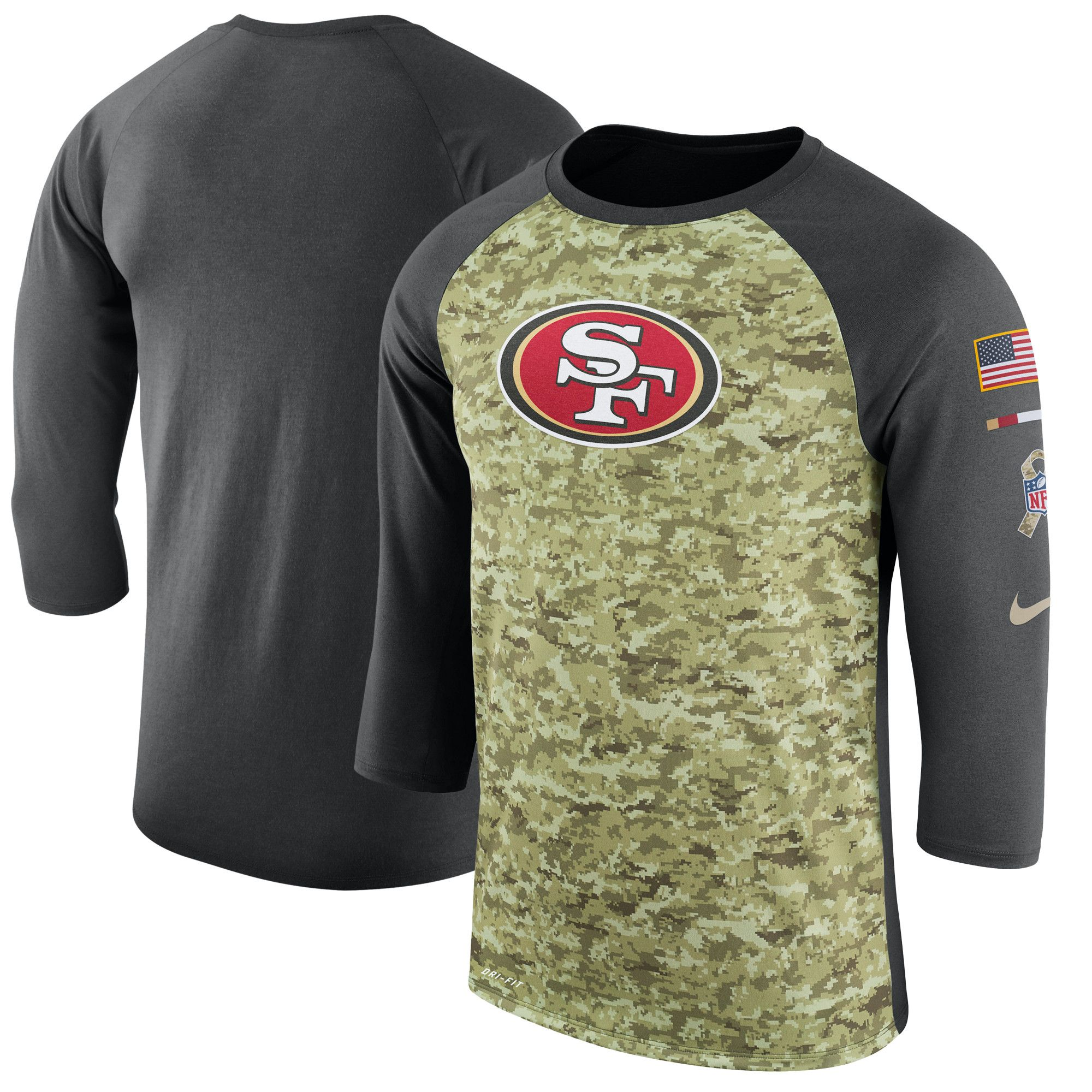 new arrival b54ae be66c Nike San Francisco 49ers Legend Logo Performance T Shirt ...