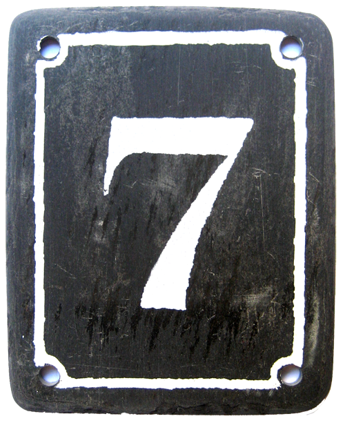 Black slate house number 7
