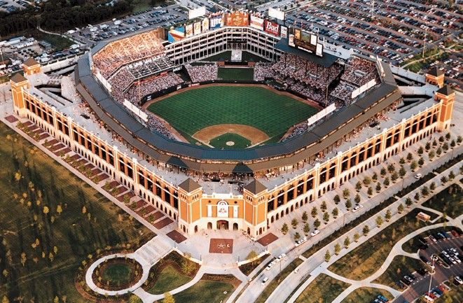 Because What You Have At The Ballpark At Arlington Is One Team Playing With Places To Go Ballparks Places