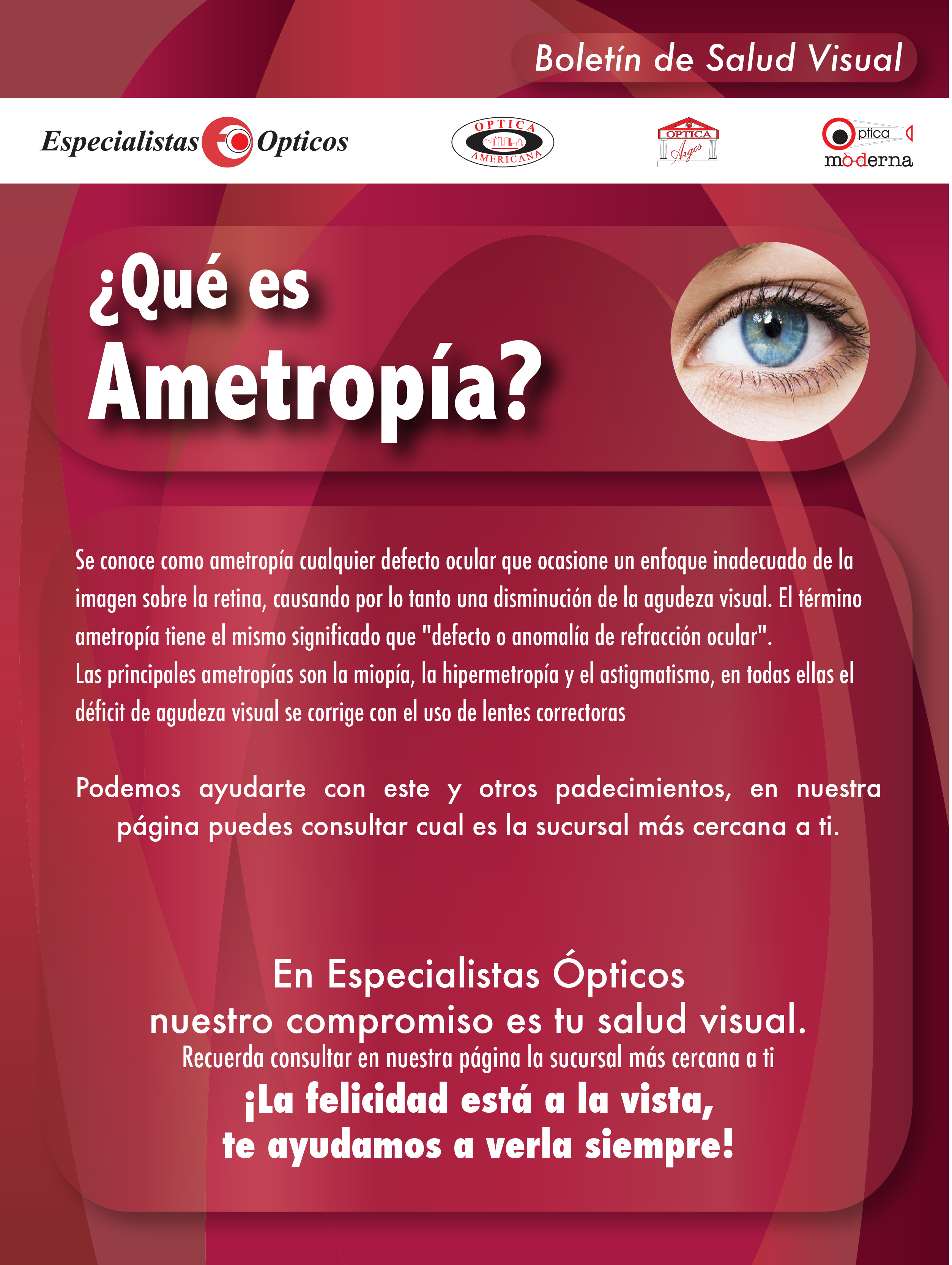 Sabes qué es Ametropía?   salud visual   Pinterest   Optometry