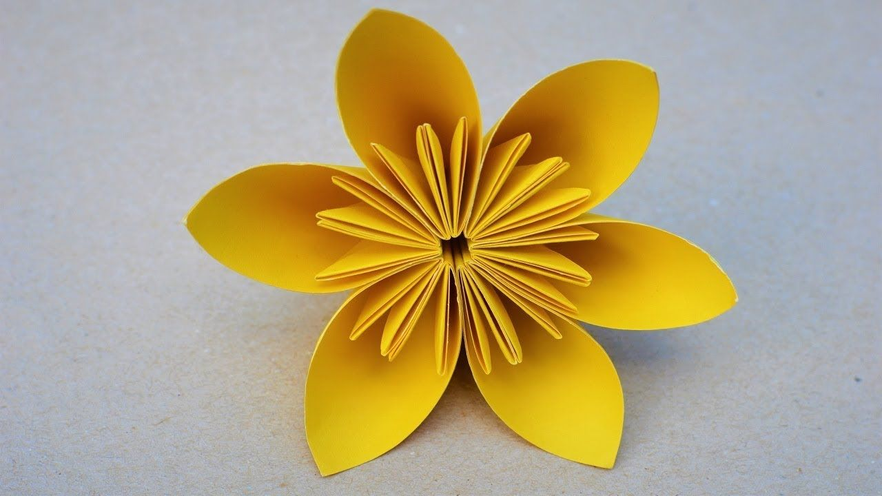 Easy Crafts How To Make A Simple Kusudama Paper Flower