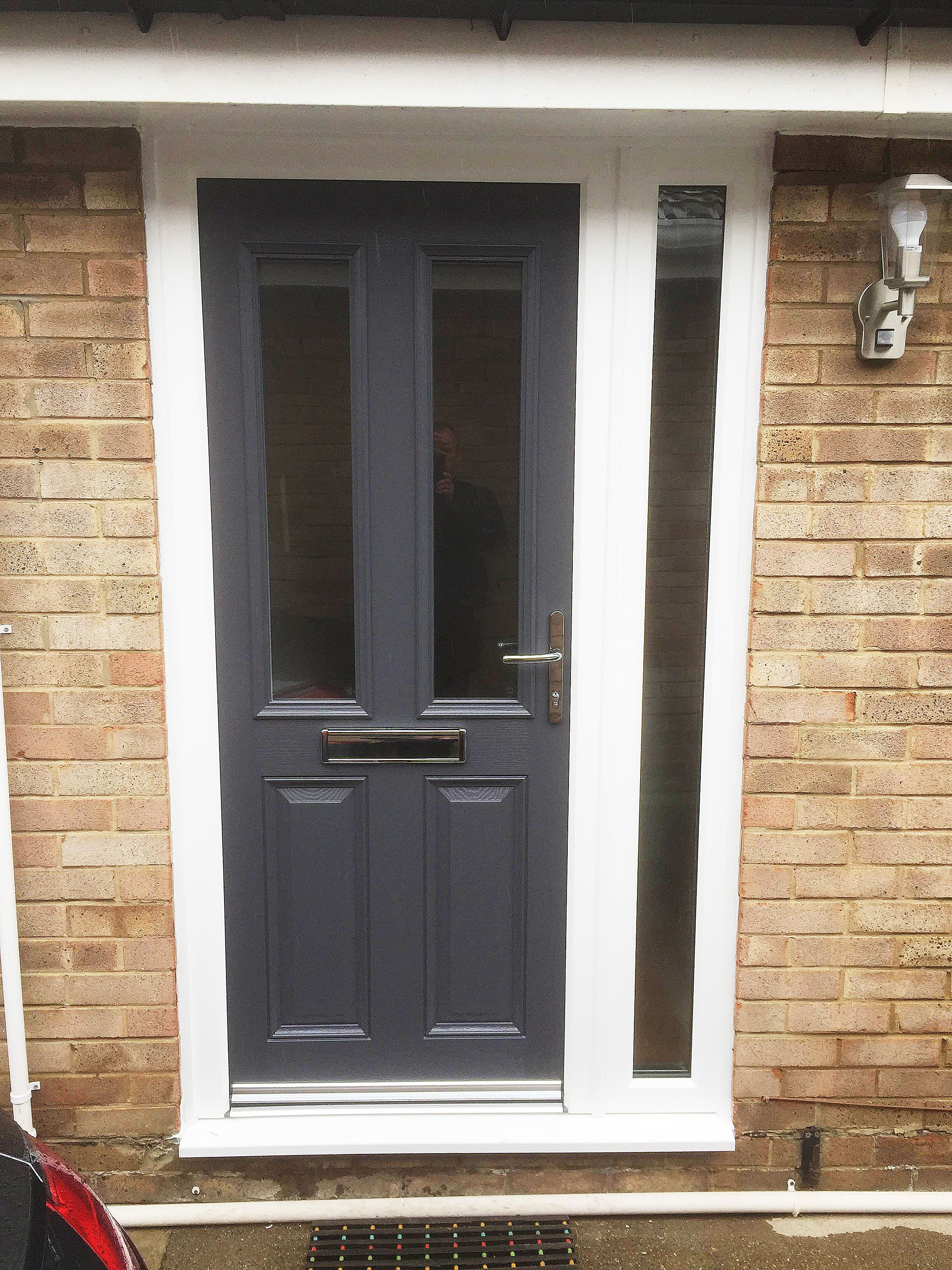 Altmore Composite door design, with simple clear glass, in a ...