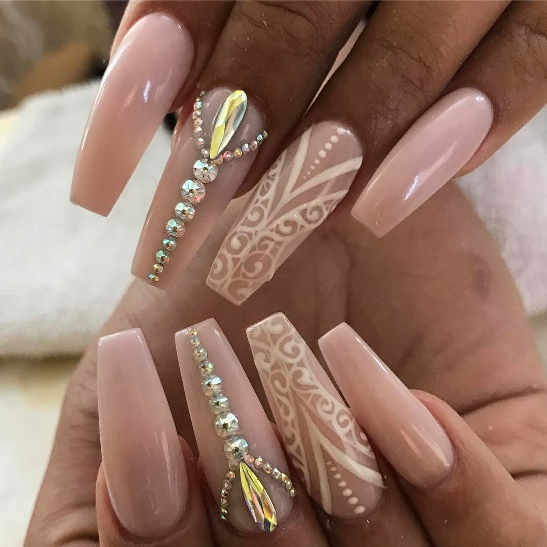 Ugly Duckling Pink Nails My Ballerina Comment Coffin Ps Nailart