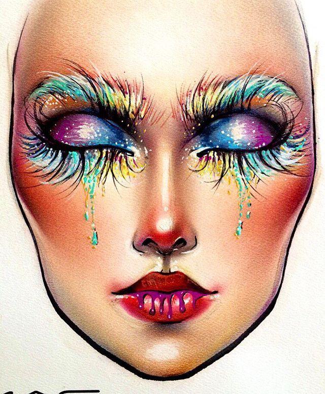 @milk1422   Makeup face charts, Makeup charts, Makeup drawing
