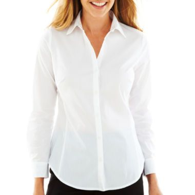 63ca14ce540761 Worthington® Long-Sleeve Button-Front Shirt found at  JCPenney ...