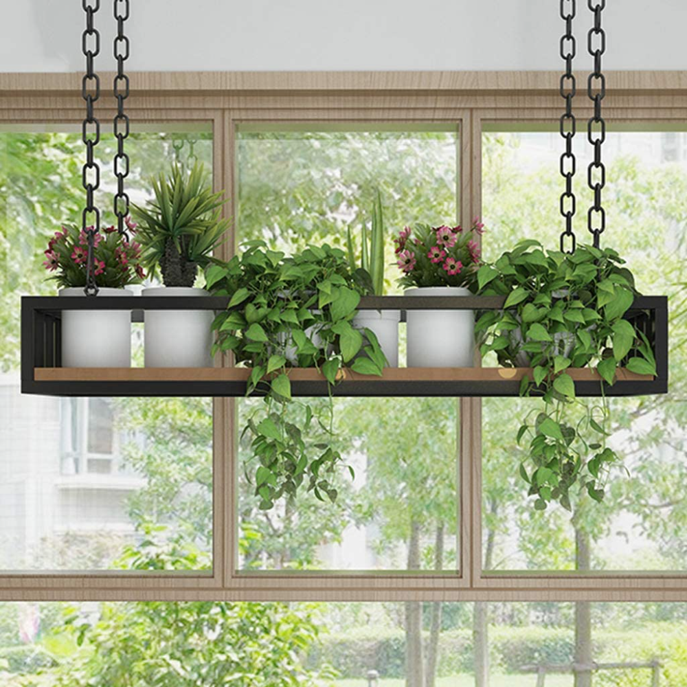 Flower Pot Rack Storage, Ceiling Hanging Flower Stand