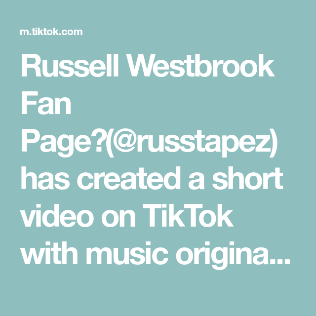 Russell Westbrook Fan Page Russtapez Has Created A Short Video On Tiktok With Music Original Sound Probably Will Never Post This On Iwaizumi Daisuga Iwaoi