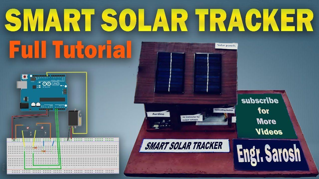 SOLAR SUN TRACKER USING ARDUINO IN 2020 em 2020