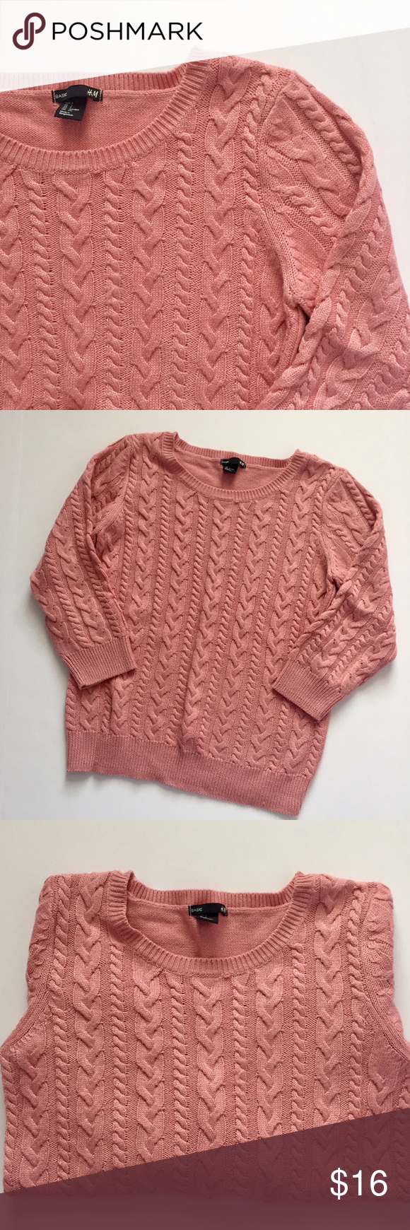 Comfy Light Pink Cable Knit Sweater ❄ | Cable knit sweaters ...