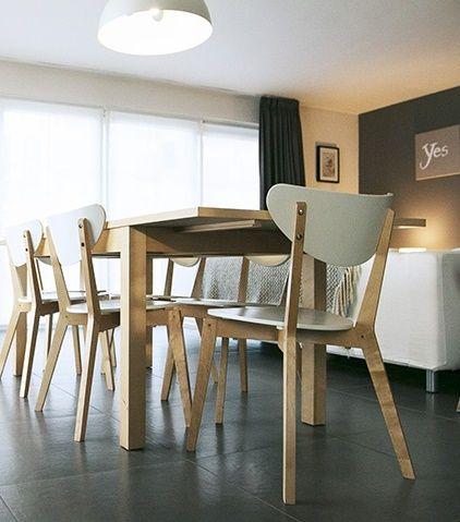 Eetkamer • modern • interieur • trendy • tegels • Foto: www.bostoen ...