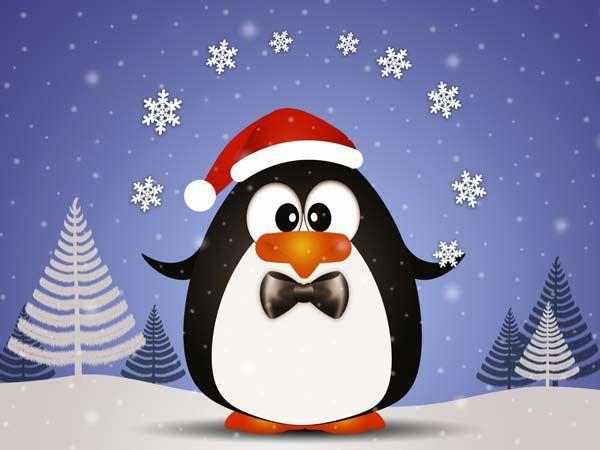 Pingouin Noel 20 cartes de Noël à imprimer (9) | Cartes de noël à imprimer