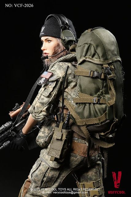 onesixthscalepictures: VeryCool ACU CAMO FEMALE SHOOTER : Latest product news for 1/6 scale figures (12 inch collectibles).
