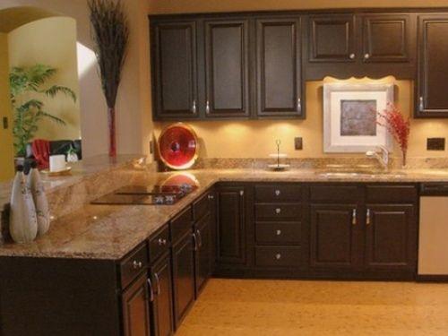 tan brown granite kitchen countertops   home   pinterest   dark