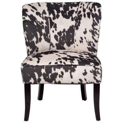 Porter Designs Mimi Black And White Cow Print Tulip Back