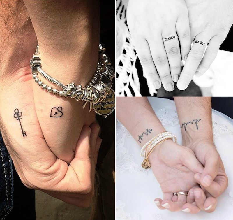 Tatouage Couple 70 Idees Pour Trouver Le Tatouage En Commun Ideal Tatouage Couple Tatouage Tatouage Mariage