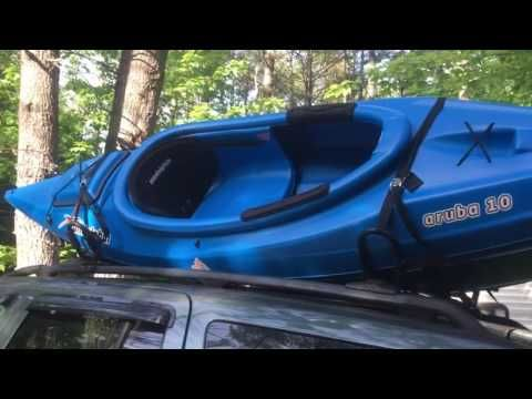 How To Secure A Kayak On Car Or Suv Using J Bar Roof Rack Youtube Kayaking Kayak Rack For Suv Roof Rack
