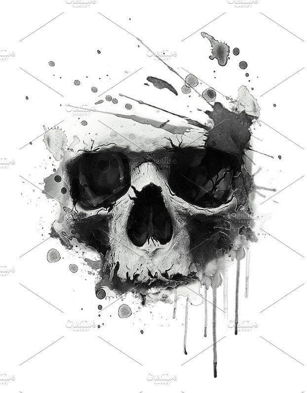 Printable Result Of Skull Tattoo Template World Of Flowers 8