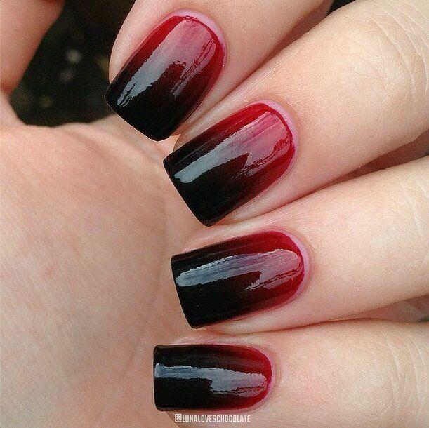 Unas para vestido rojo con negro