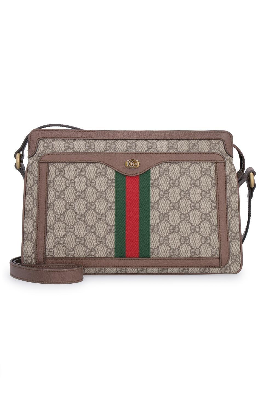 c097e5a19eb3 GUCCI GG Supreme单肩包. #gucci #bags #canvas #leather #lining #metallic #shoulder  bags #pvc