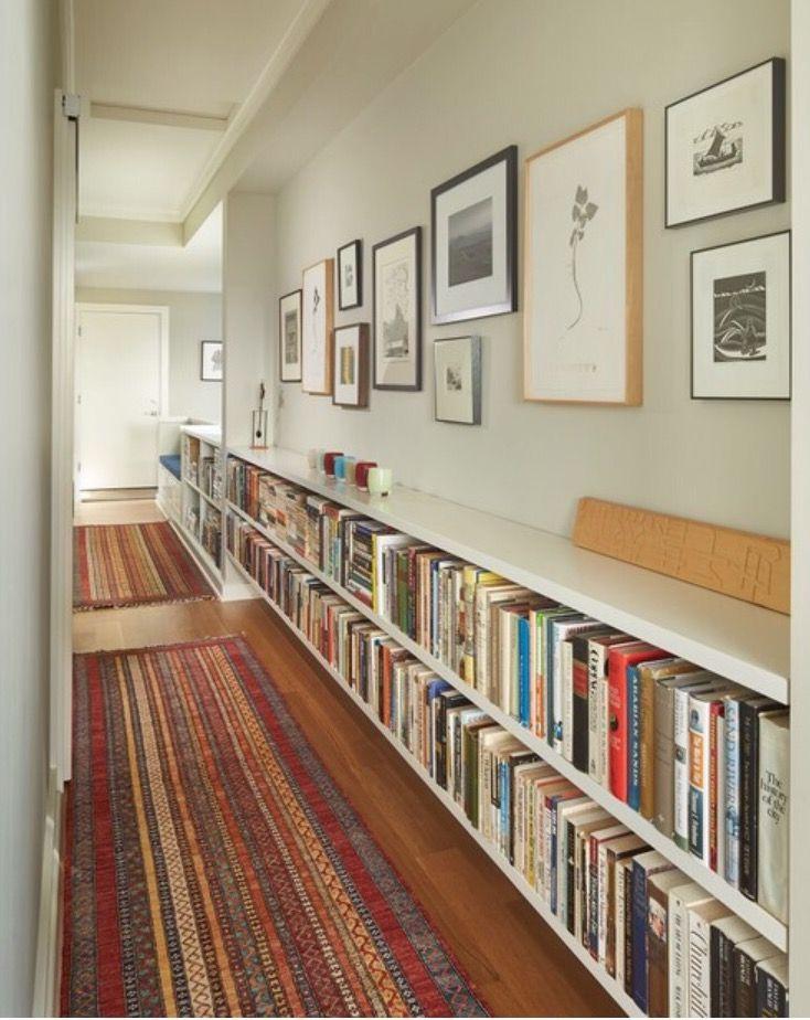 Exceptionnel Long Hallway, Low Bookshelves
