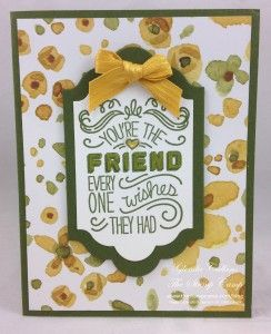 Stampin' Up! Friendly Wishes | The Stamp Camp