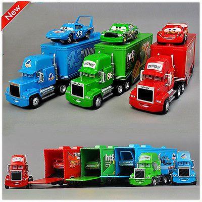 Set 3 Disney Pixar Cars Movie 86htb 43 King Lightning Mcqueen Amp Mack Truck Toy Cars Movie Pixar Cars Disney Pixar Cars