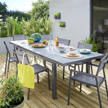 table de jardin naterial niagara 5 lames rectangulaire. Black Bedroom Furniture Sets. Home Design Ideas
