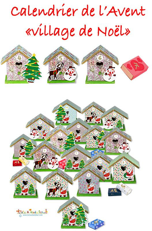 Comment réaliser un calendrier de Noël en petites maisons qui pourront être récupérées pour la déco de table