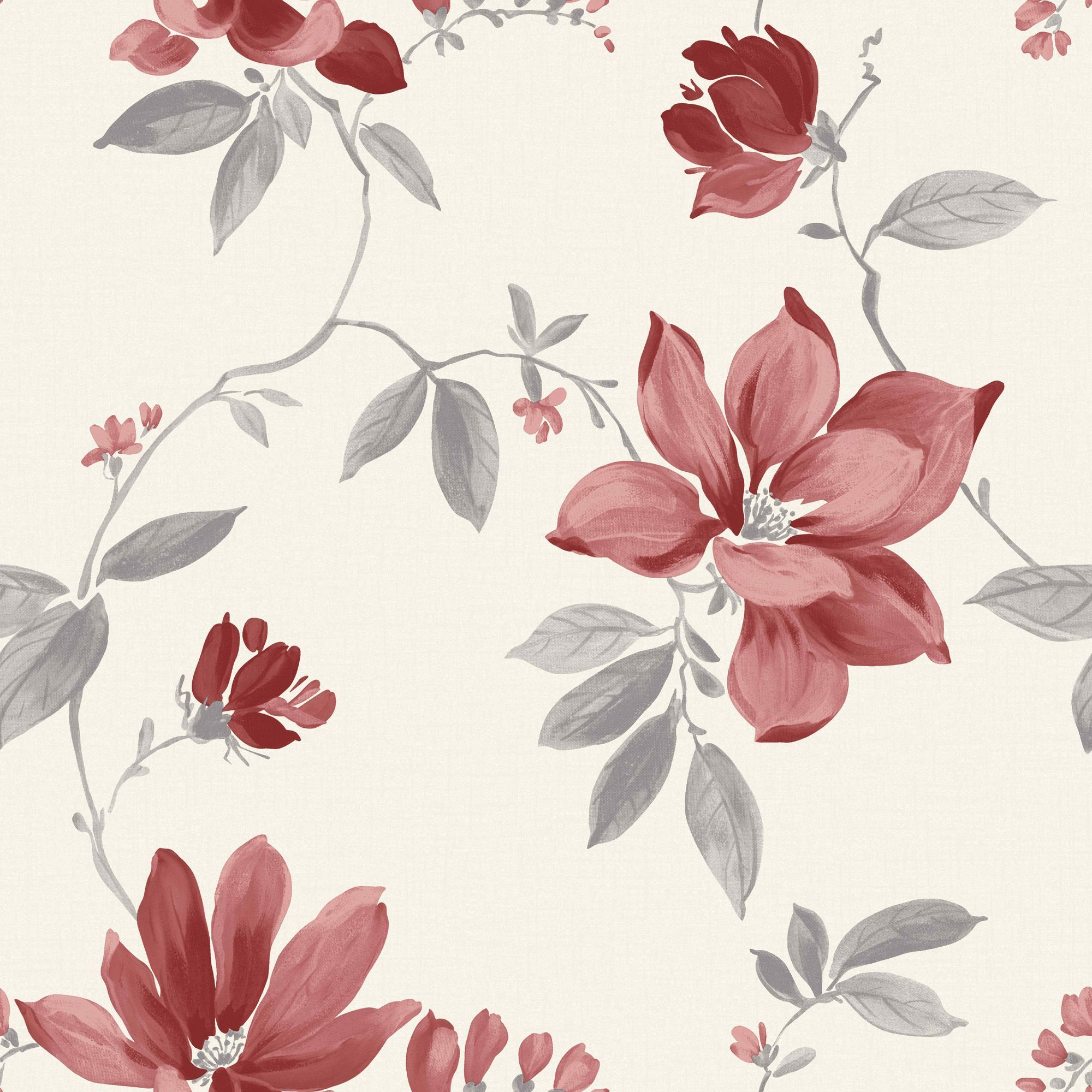 Magnolia Cream Floral Wallpaper In 2020 Wallpaper Diy Wallpaper