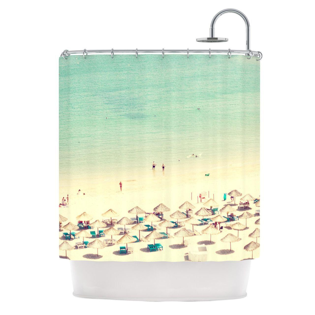 "Ingrid Beddoes ""Happy Summer"" Beach Shower Curtain"